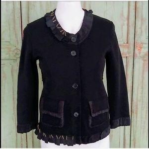 Dolce & Gabbana short black knit jacket